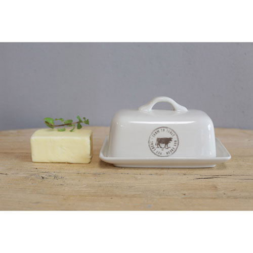 Cow Decal Butter Dish