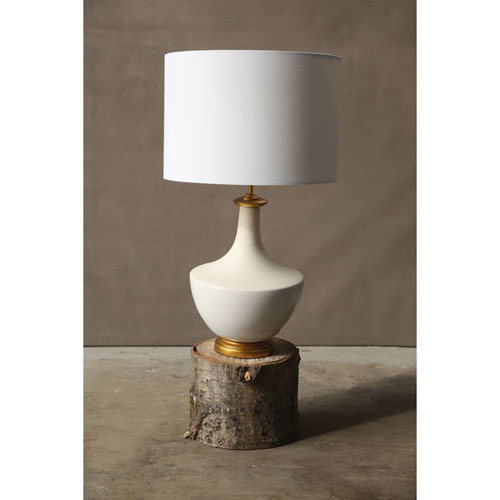 3R Studio Cream Ceramic Table Lamp