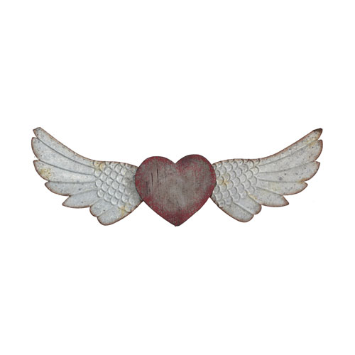 3R Studio Heart and Wings Wall Décor
