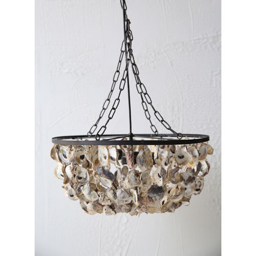 3R Studio Oyster Shell Two-Light Pendant Chandelier