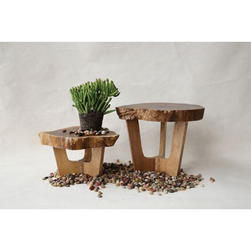3R Studio Small Madre De Cacao Wood Pedestal