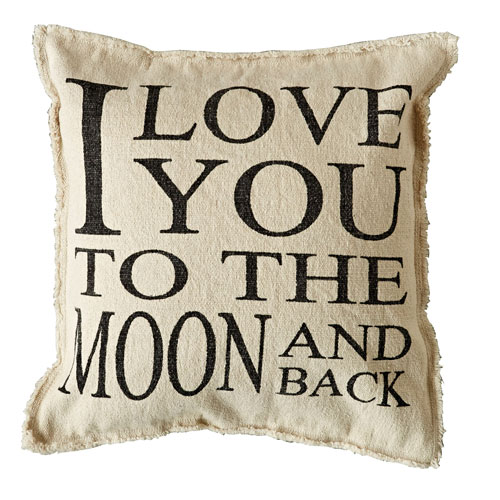 Love You to the Moon and Back 20 In. Pillow