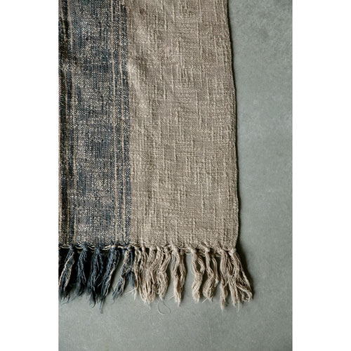 Charcoal Cotton Throw