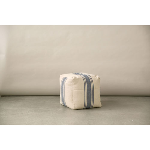 Blue 16 Inn. Stripe Pouf