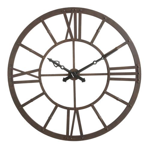Rust Round Metal Wall Clock