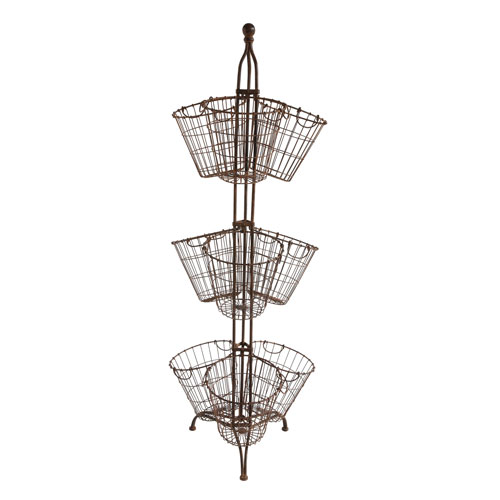 3R Studio Metal Stand with Nine Wire Baskets
