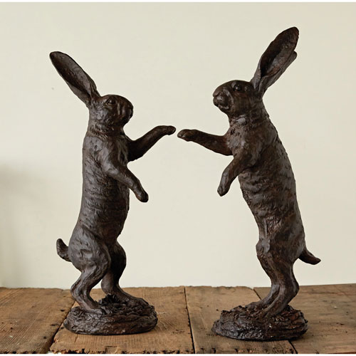 3R Studio Magnesia Decorative Rabbit, Set of Two