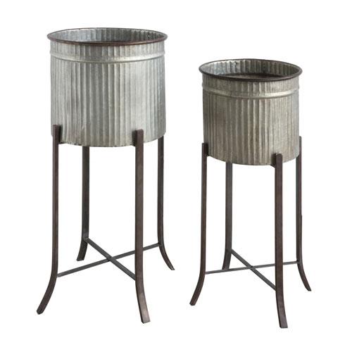 Iron Planter, Set of Two