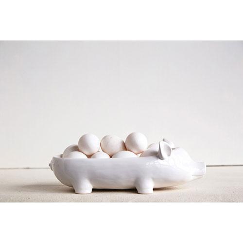 3R Studio White Pig Dish