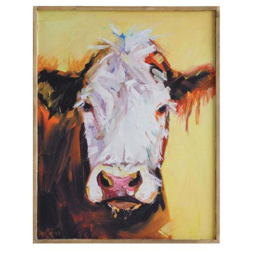 3R Studio Cow 24 In. Canvas Wall Plaque