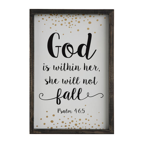 3R Studio God is Within Her… Wood Framed Wall Plaque