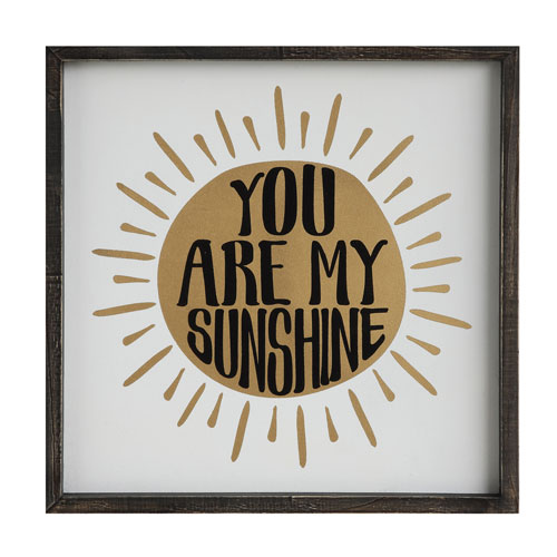 You Are My Sunshine 16.5 In. Framed Wall Plaque