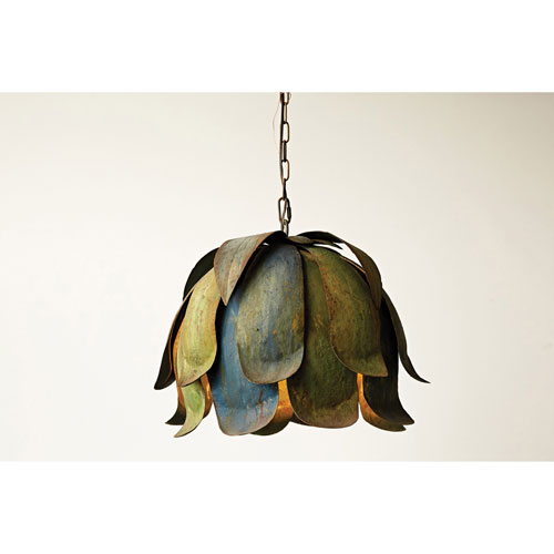 Painted Iron Ceiling Lamp
