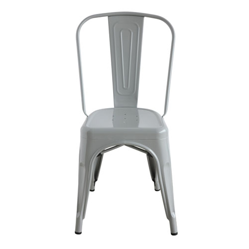 Gray Metal Dining Chair
