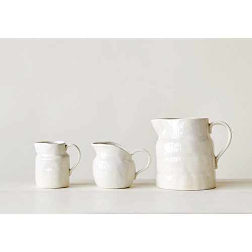 3R Studio Large White Vintage Pitcher