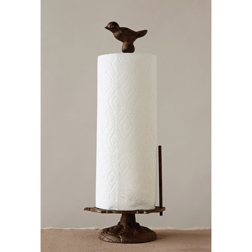 3R Studio Cast Iron Bird Paper Towel Holder