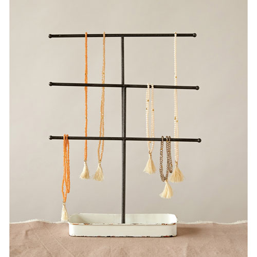 3R Studio Metal Standing Jewelry Holder with Tray