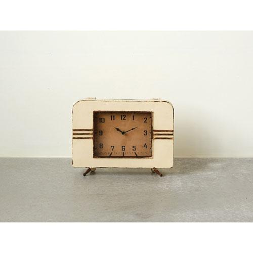 3R Studio Bone 12 In. Metal Mantel Clock