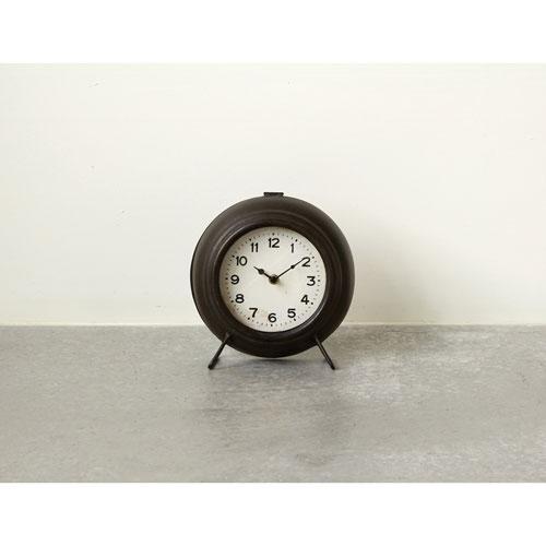 3R Studio Black Metal Mantel Clock