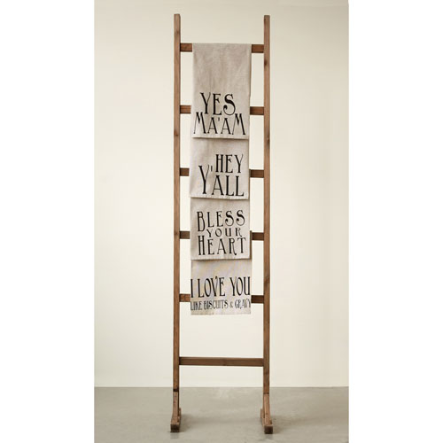 Cotton Hand Towel with Southern Saying, Set of Four