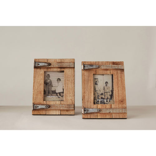 3R Studio Wood and Metal 4 x 6 In. Photo Frame