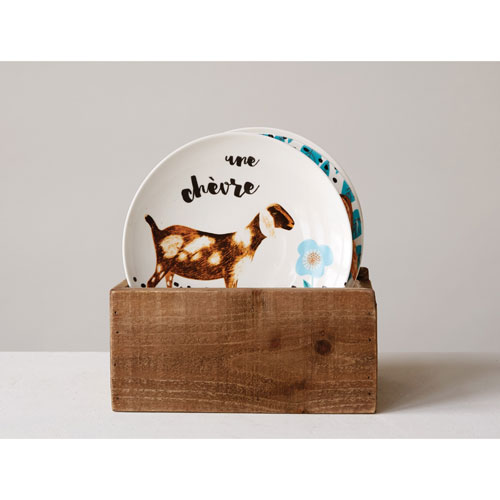 3R Studio Round Farm Animal 8 In. Plate, Set of Four