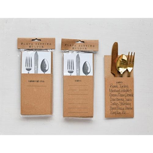 3R Studio Menu Paper Utensil Holder, Set of Four