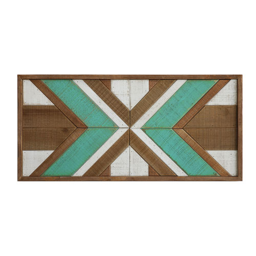 3r Studio Brown And Turquoise Wood Wall Décor Da7666 Bellacor