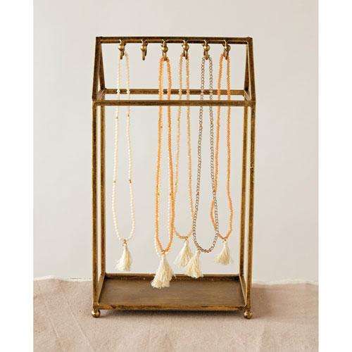 3R Studio Gold Metal House Jewelry Holder