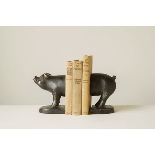 Pig Cast Iron Bookends