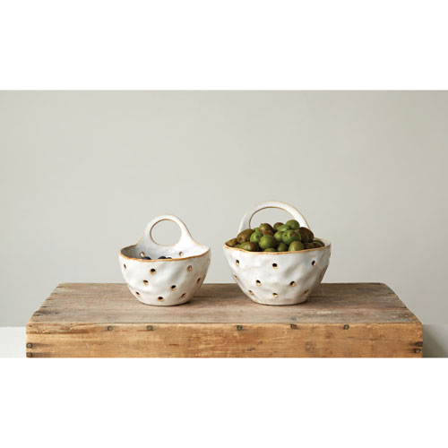 3R Studio Reactive Cream Colander, Set of Two