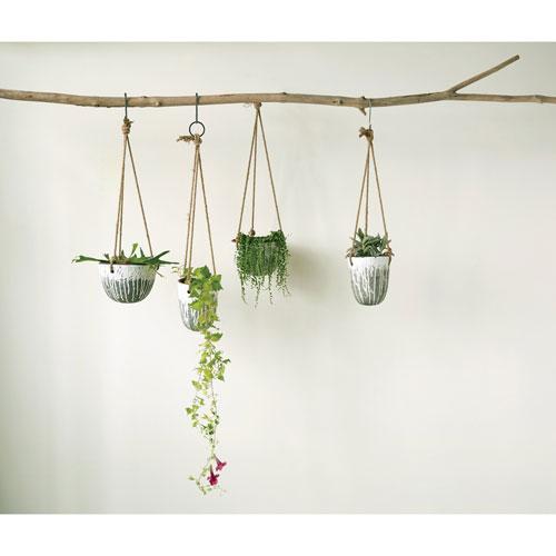 3R Studio Heavily Distressed Hanging Terracotta Planter