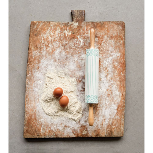 Rolling Pin with Bamboo Handles