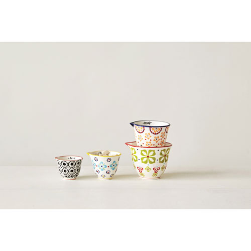 Assorted Pattern Measuring Cups