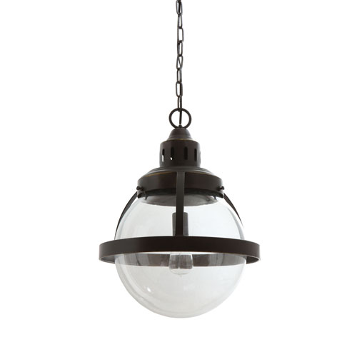 Metal and Glass Pendant Lamp