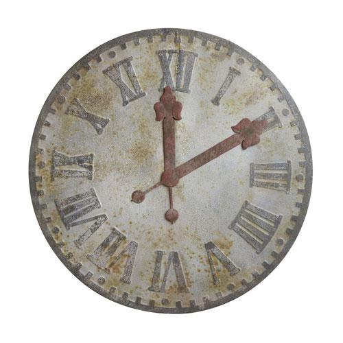 3R Studio Round 48 In. Decorative Metal Clock
