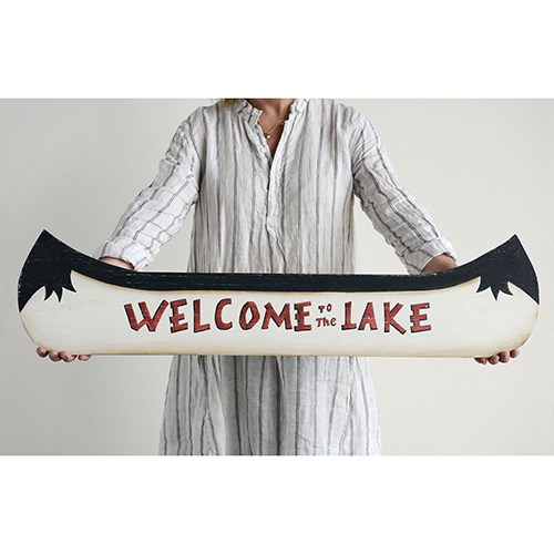 Welcome to the Lake 38 In. Wood Sign