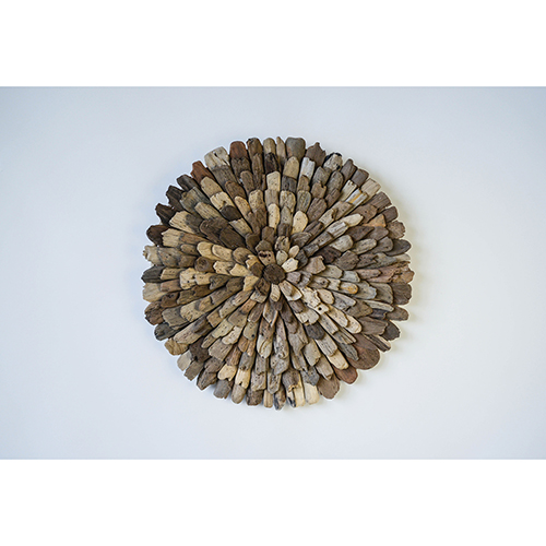 Round 23 In. Driftwood Wall Décor