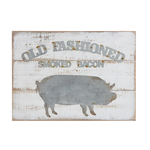 Old Fashioned Smoked Bacon Wall Décor