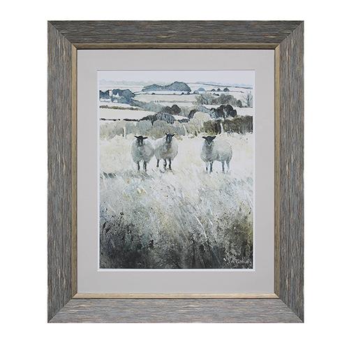 3R Studio Sheep Wall Art with Acrylic Frame