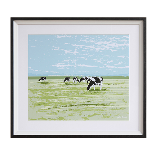 Framed Cows Wall Art