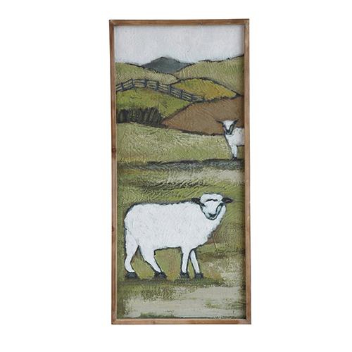 3R Studio Sheep on a Hill Canvas Wall Décor