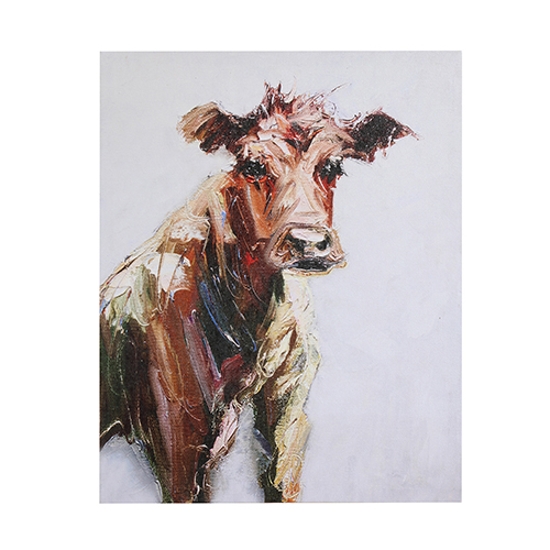 3R Studio Cow Canvas Wall Art
