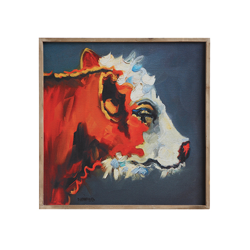 3R Studio Cow 24 In. Canvas Wall Décor