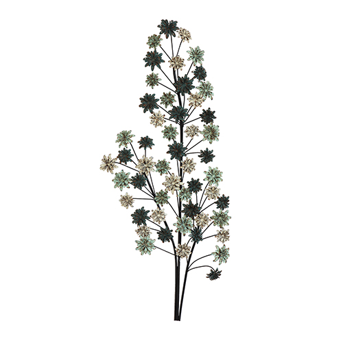 3R Studio Metal Branch with Flowers Wall Décor