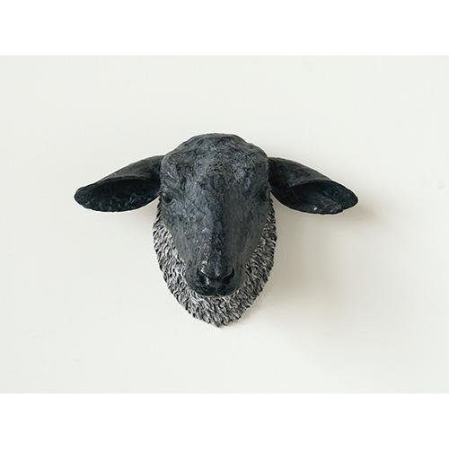 Resin Sheep Head Wall Décor