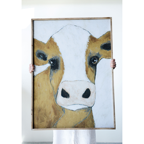 Framed Cow Wall Décor