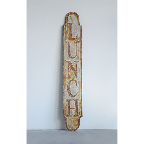 Lunch Embossed Metal Wall Décor