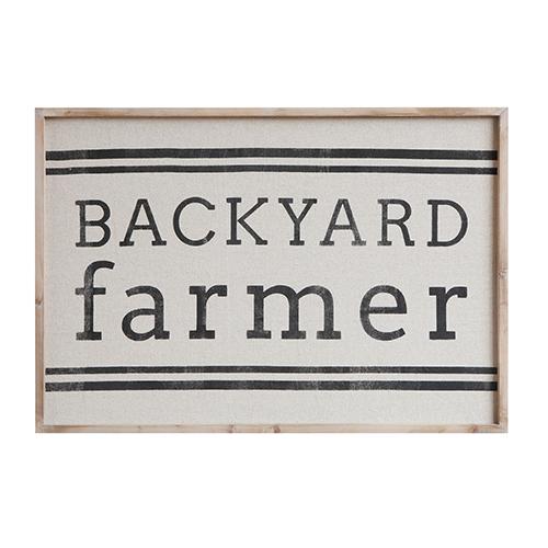 Backyard Farmer Wood Wall Décor