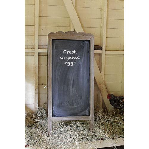 Gray Wood Two-Sided Blackboard